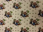 MARIO  YOSHI AND LUIGI - Fabric 100% Cotton - Price Per Metre